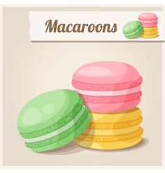 Detailed Icon Macaroons vector image vector image