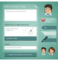 Doctors Online Consultation Form vector image