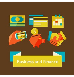 finance and business concept vector image vector image