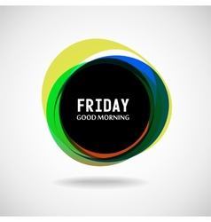 Friday vector image