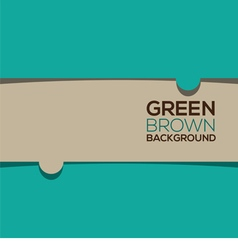Green Brown Graphic Background vector image vector image