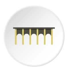 High bridge icon flat style vector