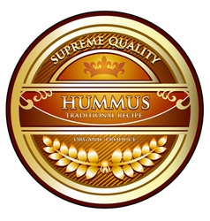 Hummus traditional recipe vector