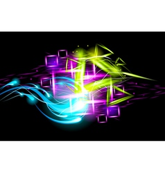Light effect background vector image