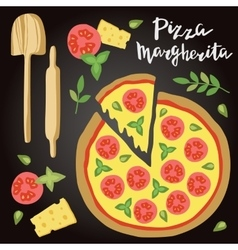 Margherita pizza with vector