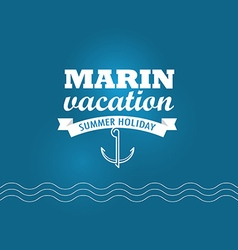 Marin wacation summer holiday insignia design vector