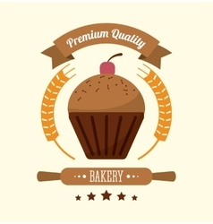 muffin bakery food icon graphic vector image