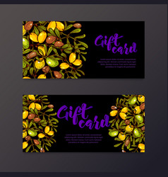 oil background eco flyers design gift certificates vector image