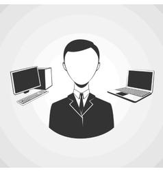 Programmer avatar profile userpic vector image vector image