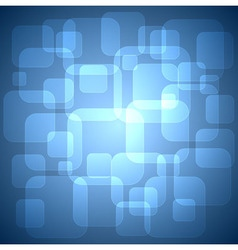 Rounded squares blue background vector image vector image