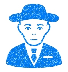 Secret service agent grainy texture icon vector