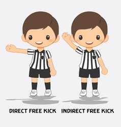 soccer referee signals vector image vector image