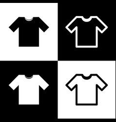 t-shirt sign black and white vector image vector image