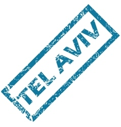 Tel aviv rubber stamp vector