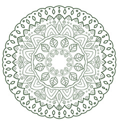 Unique mandala design round ornamental pattern vector