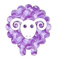 Watercolor cute sheep vector