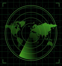 world radar vector image vector image