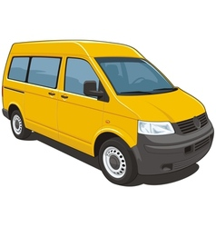 Yellow van vector image