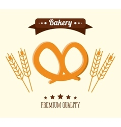 Pretzel bread bakery icon graphic vector