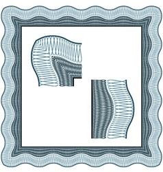 Seamless certificate classic decorative border vector