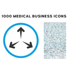 Expand arrows icon with 1000 medical business vector