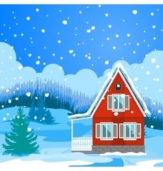 Idyllic winter landscape vector