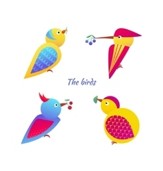 Birds icons vector