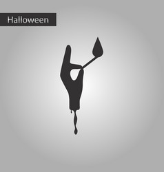 black and white style icon halloween zombie arm vector image