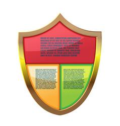 Shield color info graphic template vector