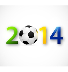2014 Brazil world cup vector image