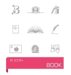 Book icon set on vector