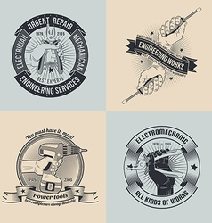 Emblems for repair workshop vector