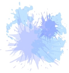 Watercolor blots hand drawn background vector