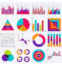 Stock business data market elements vector