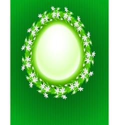 spring egg composition vector image