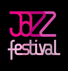 Jazz festival on black vector
