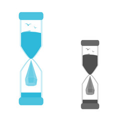 a set of logos hourglass vector image