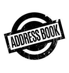 Address book rubber stamp vector