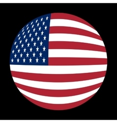 American flag sphere vector
