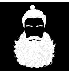 beard santa black background vector image