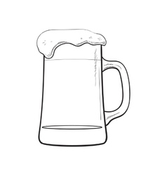 Big mug of cold beer with foam and bubbles vector image vector image