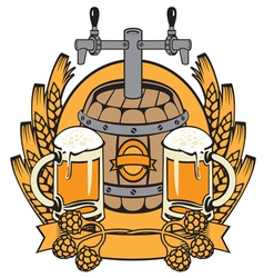 cask beer vector image