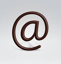 Chocolate email sign vector image vector image