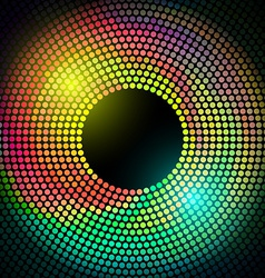 colorful disco lights frame vector image
