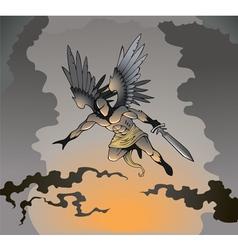 Dark angel vector image vector image
