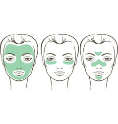 Female face with beauty mask vector image