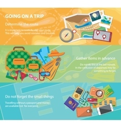 Going on a trip Travel flat design banner set vector image