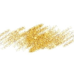 Gold glitter sparkles bright confetti background vector