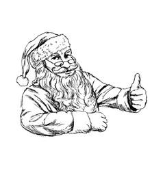 hand sketch santa claus vector image vector image