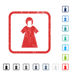 Lady figure icon rubber watermark vector